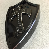 Bad Axe Horn Cover - Harley and Honda VTX1300