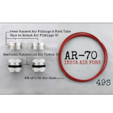 AR-70/49S Fork Tube Air Ride Kit 2014 And Up Harley Davidson Baggers