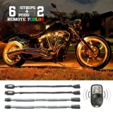 6 Compact Pods + 6 Flex Strips 7 Color Remote Accent Kit for Motorcycle